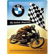 Blechschild BMW Rennfahrer
