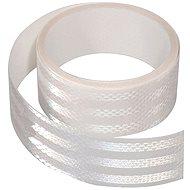 Reflective adhesive tape 1m x 5 cm white