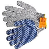 VOREL garden gloves, cotton PVC meshing CROSS