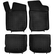 Foot mats with raised edge for Skoda Fabia II 03/2007 - 2014