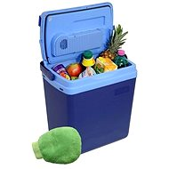COMPASS Cooling box 25litres BLUE 220 / 12V display with temperature + gift! - Cool Box