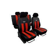 SIXTOL Autopotahy kožené s alcantarou GT cihlově červené - Autopotahy
