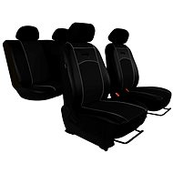 SIXTOL Leather car seat black - Car Seat Covers