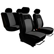 Seat covers black and gray leather Sixtol