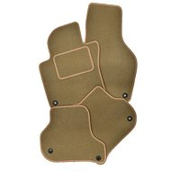 Skoda Octavia car mats for 1997 - 2003 Oval fixation beige, textile, PREMIUM