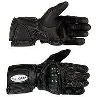 TECH Leder moto Handschuhe mit Protektoren vel. M