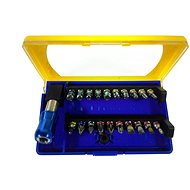 ATX Professional bit set with holder, colour-coded, 21-Piece