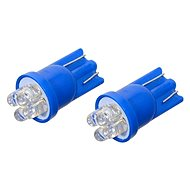 Compass Bulb 12V T10 4LED blue 2pc