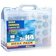 COMPASS MEGA H4 + H4 + fuses, spare set 12V - Car Bulb