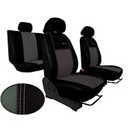 SIXTOL Autopoints leather with EXCLUSIVE light grey - Car Seat Covers