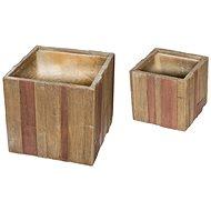 G21 Květináč Wood Cube - Květináč