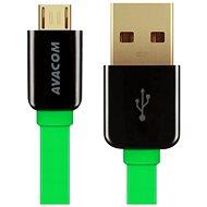 AVACOM MIC-120G microUSB 120cm zelená - Datový kabel