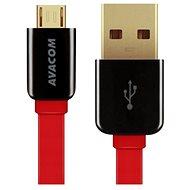 AVACOM MIC-120R microUSB 120cm červená - Datový kabel