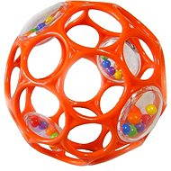 Oballo RATTLE 10 cm - Orange