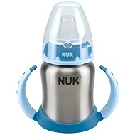 NUK láhev na učení Nerezová, 125 ml - modrá