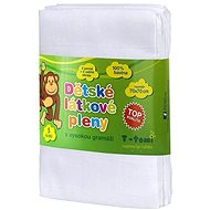 T-tomi Pleny látkové 5 ks - bílé - Dětské pleny