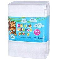 T-tomi Pleny látkové 10 ks - bílé - Dětské pleny
