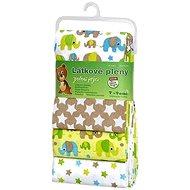 T-tomi Pleny látkové 4 ks - zelení sloni - Dětské pleny