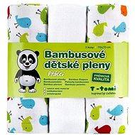 T-tomi Pleny bambusové 3 ks - ptáčci - Dětské pleny
