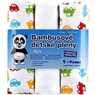 T-tomi Pleny bambusové 3ks - auta + DÁREK
