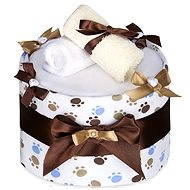 T-tomi Plienková torta LUX veľký - biele labky - Set