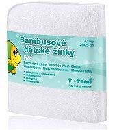 T-tomi Bambusové žinky 4ks - Biela