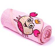 Sensillo osuška s kapucňou - ružová