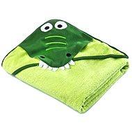Sensillo osuška s kapucňou krokodíl - zelená