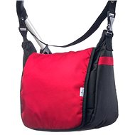 Caretero taška na kočárek - černá/červená