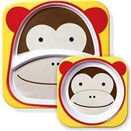 Skip hop Zoo Jídelní set - Opička - Jídelní sada pro děti