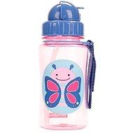 Skip Hop Zoo Flasche mit Strohhalm - Butterfly - Flasche für Kinder
