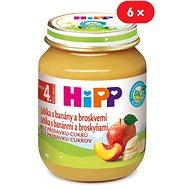 HiPP BIO Jablká s banánmi a broskyňami - 6x 125g