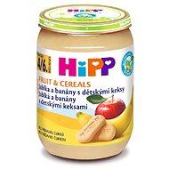 HiPP BIO Jablká a banány s detskými keksami - 6x 190g
