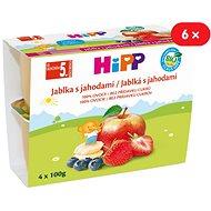 HiPP BIO Jablká s jahodami - 6x (4x100g)