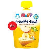 HiPP BIO Fruit Fun Jablko-Hruška-Banán - 6x 90g