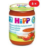 HiPP BIO Paradajková polievka s kuracím mäsom - 6x 190g