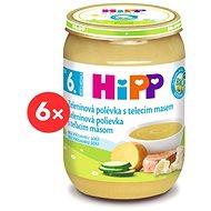 HiPP BIO Zeleninová polievka s teľacím mäsom - 6x 190g