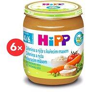 HiPP BIO Zelenina a ryža s kuracím mäsom - 6x 125g