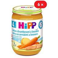 HiPP Karotka so zemiakmi a lososom - 6x 190g