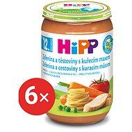 HiPP BIO Zelenina a těstoviny s kuřecím masem - 6x 220g