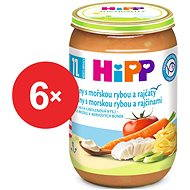 HiPP Jemné těstoviny s mořskou rybou a rajčaty - 6x 220g