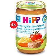 HiPP BIO Těstoviny s rajčaty a telecím masem - 6× 220 g - Dětský příkrm