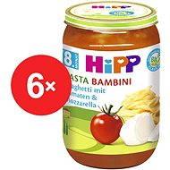 "HiPP BIO Paradajky so špagetami a mozzarellou ""Pasta Bambini"" bezmäsitý - 6x 220g"