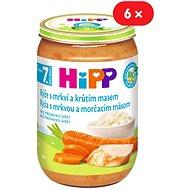 HiPP BIO Rýže s karotkou a krůtím masem - 6x 220g