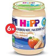 HiPP BIO Kaša na dobrú noc s keksami a jablkami - 6x 190g