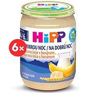 HiPP BIO Kaše na dobrou noc krupicová s banánem - 6× 190 g - Mléčná kaše