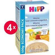 HiPP Mliečna kaša s ovocím a jogurtom Praebiotik - 4x 500g
