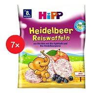 HiPP BIO Borůvkové rýžové oplatky - 7× 30 g - Sušenky