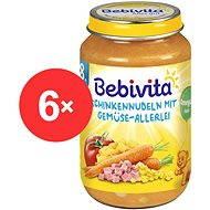 Bebivita Těstoviny se šunkou a zeleninovou směsí - 6x 220g