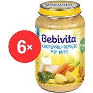 Bebivita Zemiaky-zelenina s morčacím mäsom - 6x 220g